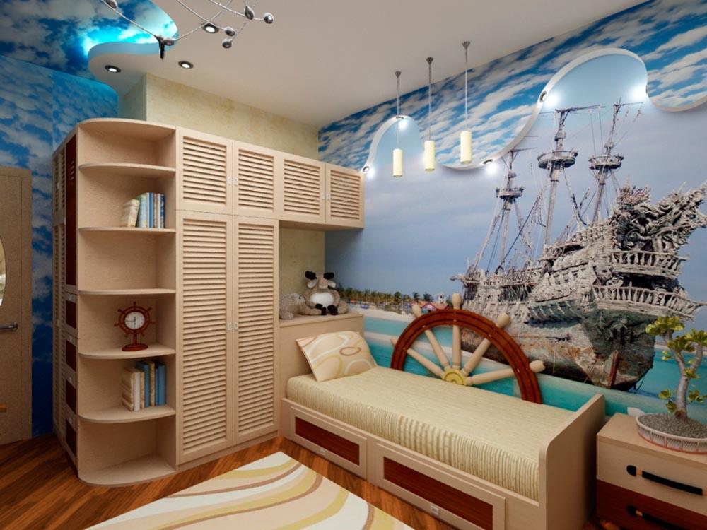 Дизайн детской морская тема
